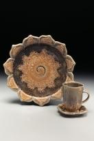Sunflower Plate & Tea Cup