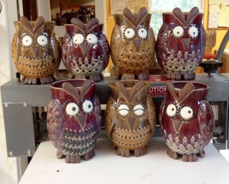 Owl Utensil Jar
