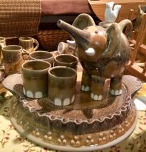 Elephant Tea Set with 4 Cups