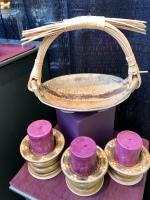 Basket & Candle Holders